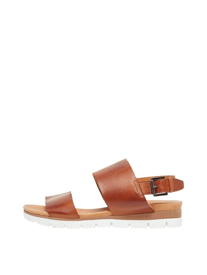 BIADEDRA LEATHER SANDALS, Cognac, large