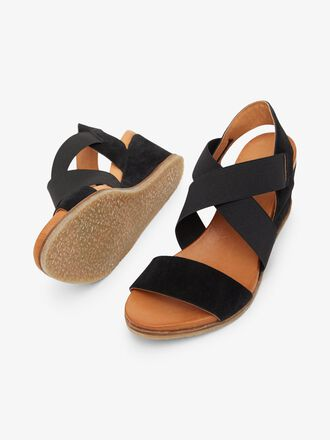 BIACAILY LEATHER CROSS SANDALS