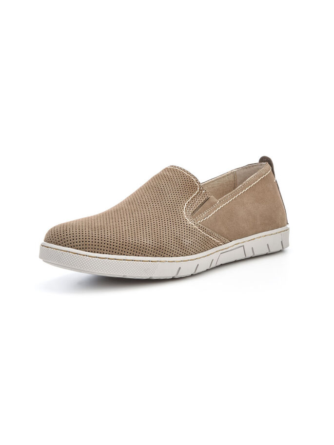 MEN'S SUEDE FLEX LOAFERS, Sand, large