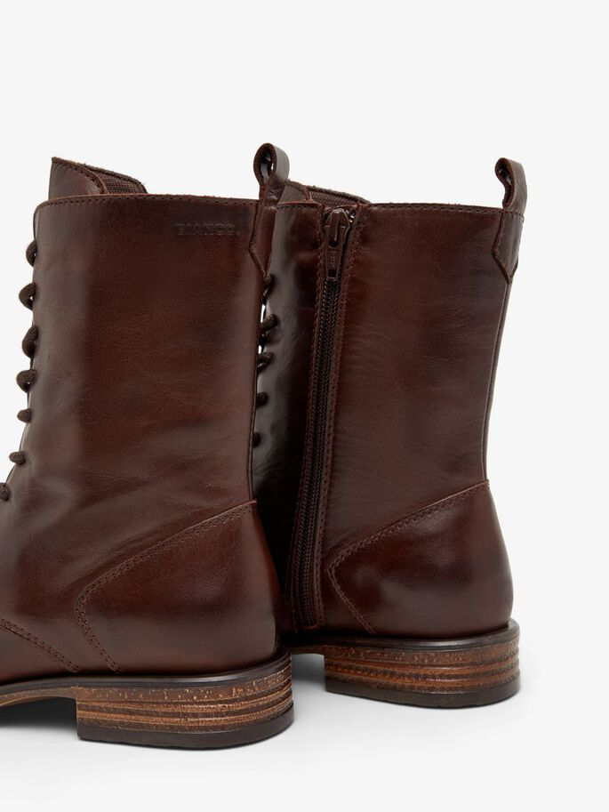 BIADANELLE LACE-UP BOOTS, DarkBrown, large
