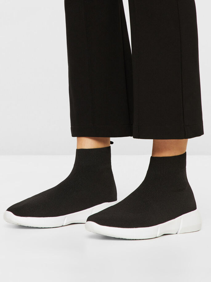 KNIT SNEAKERS, Black, large