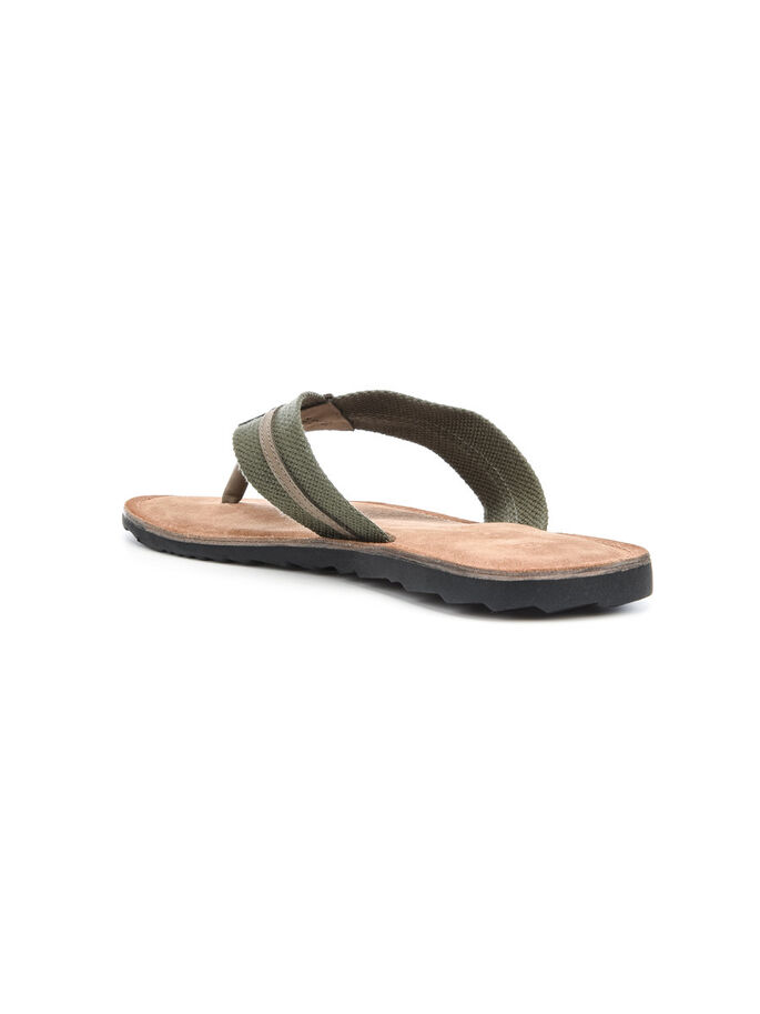 MEN'S CANVAS V SANDALS, Army Green, large