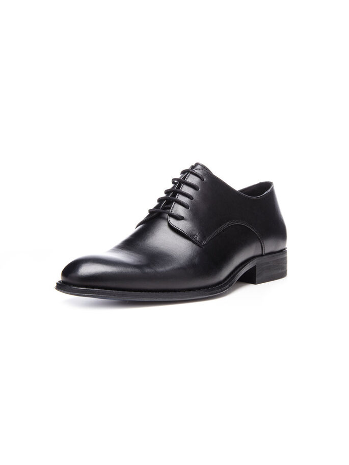 MEN'S ELEGANT DRESS DERBY SHOES, Black, large