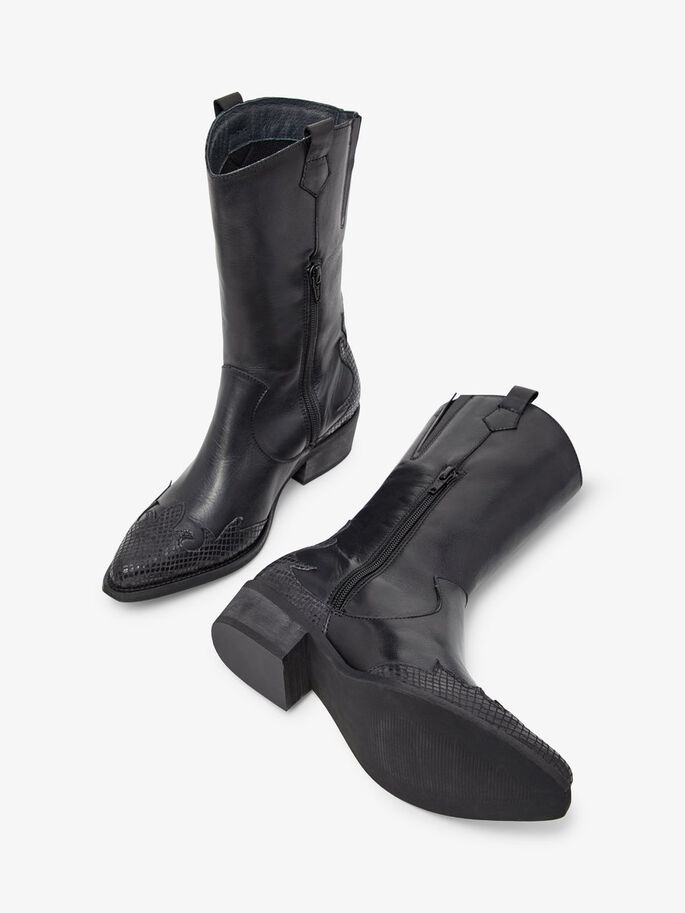 BIADELORA WESTERN BOOTS, Black, large