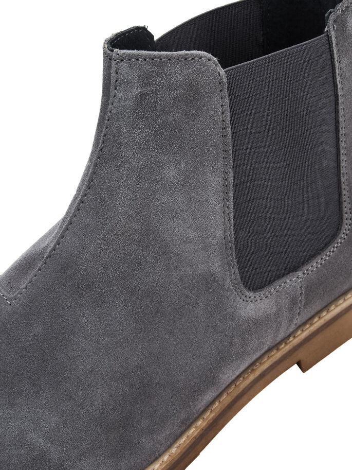 MEN'S CASUAL CHELSEA BOOTS, Grey, large