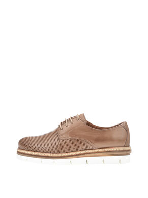 CLEAVED LACED UP DERBY SHOES