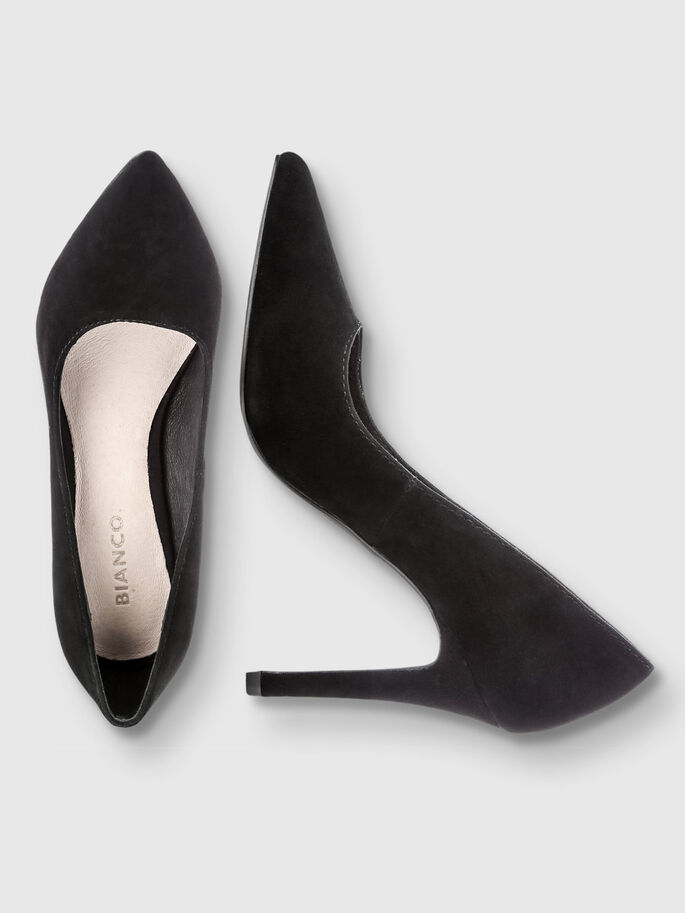 SUEDE BASIC PUMPS, Black, large