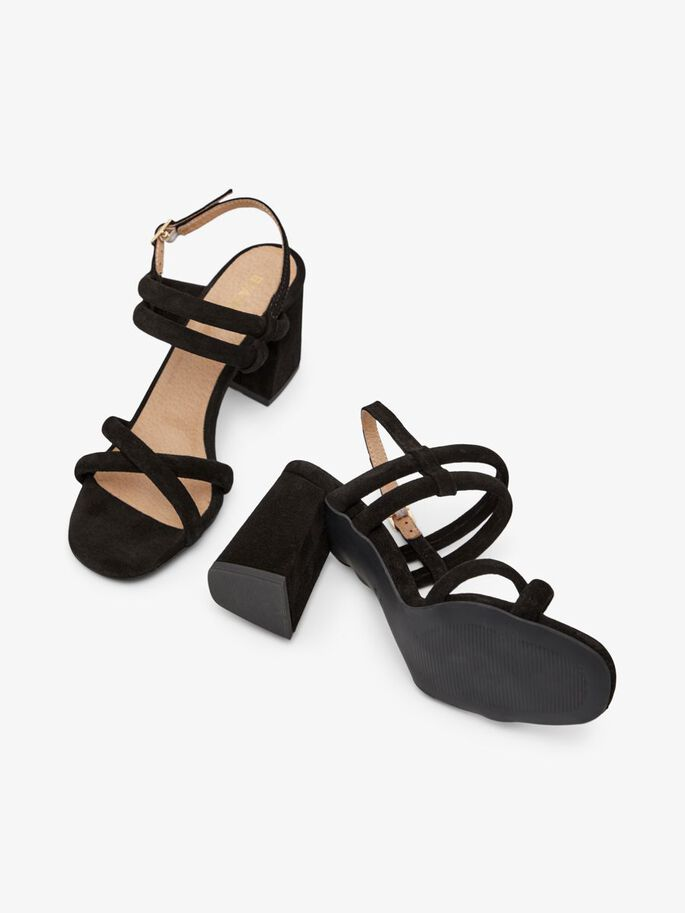 BIACHARLENE CROSS SANDALS, Black1, large