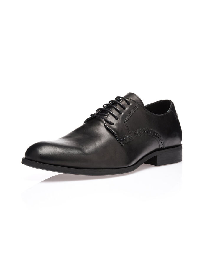 MEN'S DRESS DERBY SHOES, Black, large