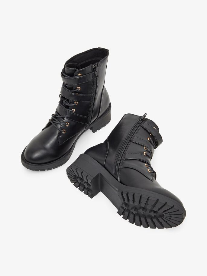 BIACLAIRE BASIC BIKER WIDE FIT BOOTS, Black, large