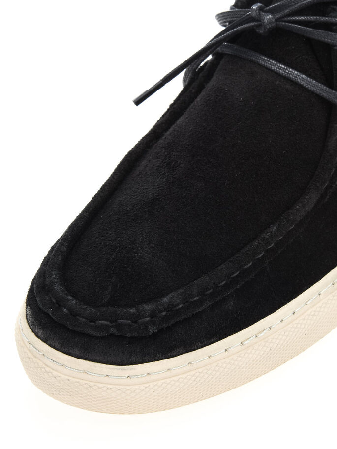 CASUAL SUÈDE HEREN SCHOENEN, Black, large