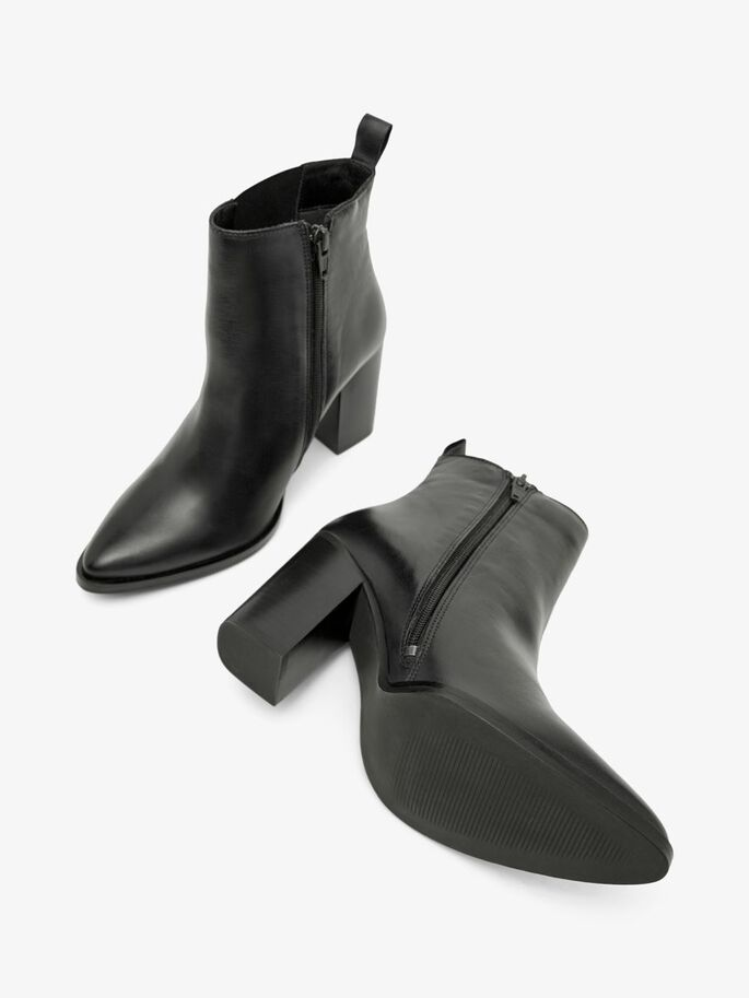 BIAJUDIA LEATHER BOOTS, Black, large