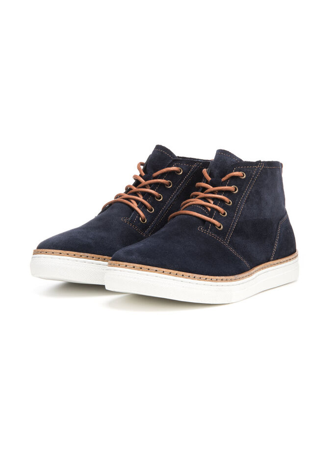 MEN'S SUEDE BOOTS, Navy Blue, large