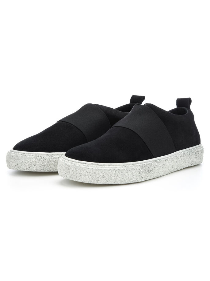 MEN'S SPORTY SLIP-ONS, Black, large