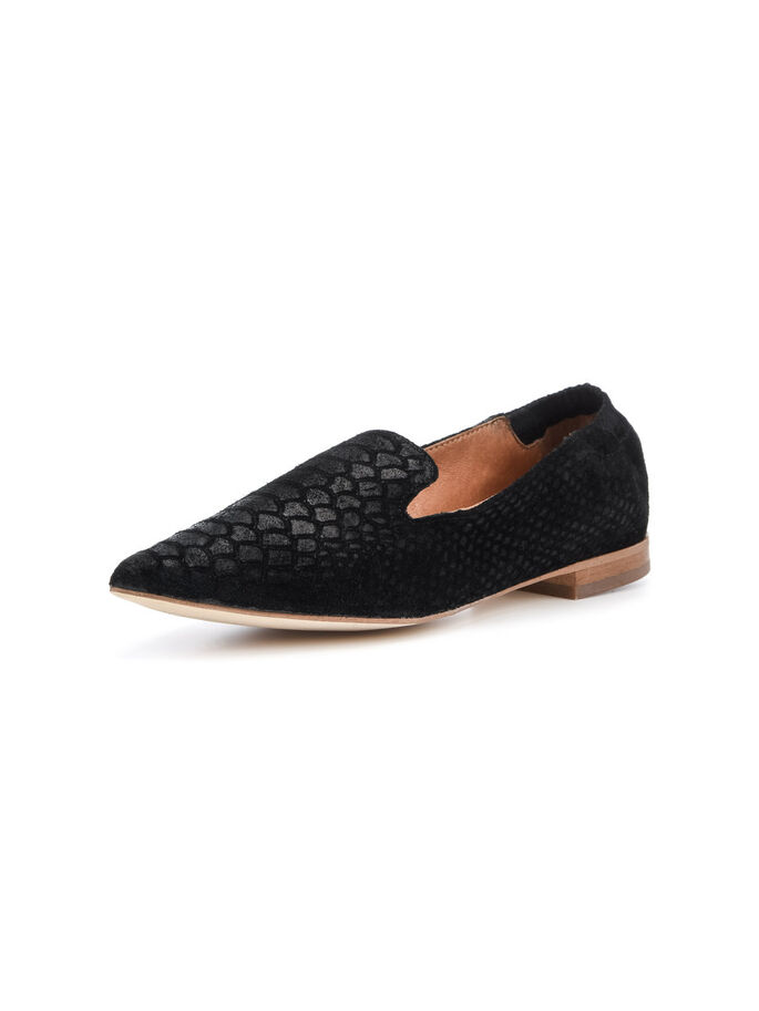SOFT POINTY LOAFERS, Black, large