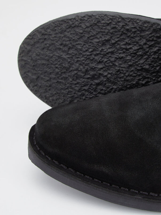MEN'S SUEDE CHELSEA BOOTS, Black, large