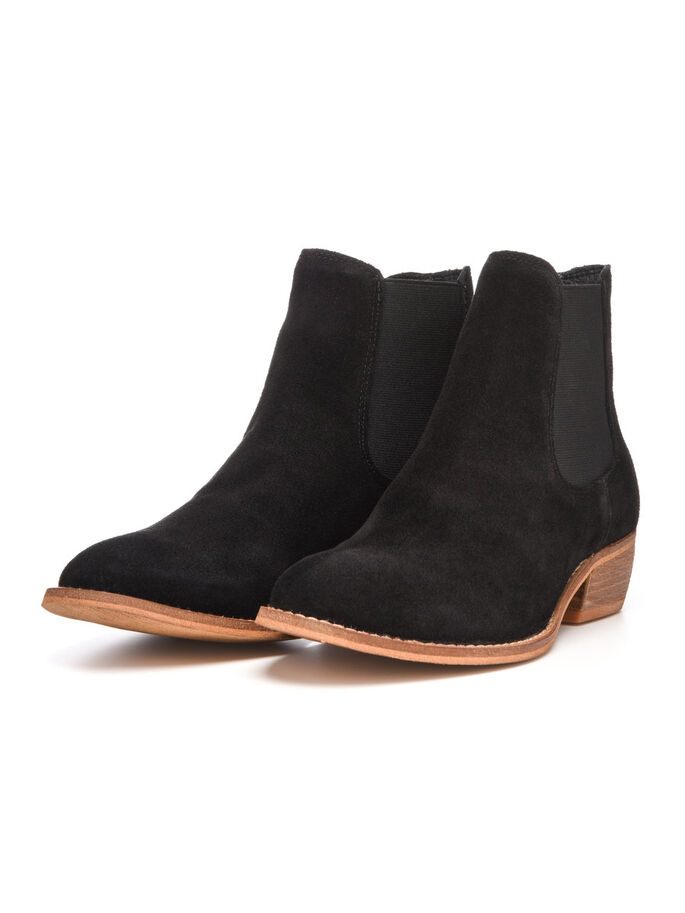 SUEDE CHELSEA BOOTS, Black, large