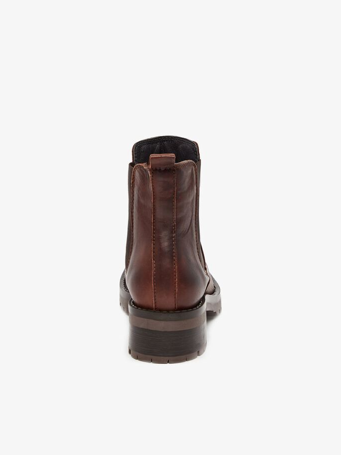 BIACORAL LEATHER BOOTS, DarkBrown, large