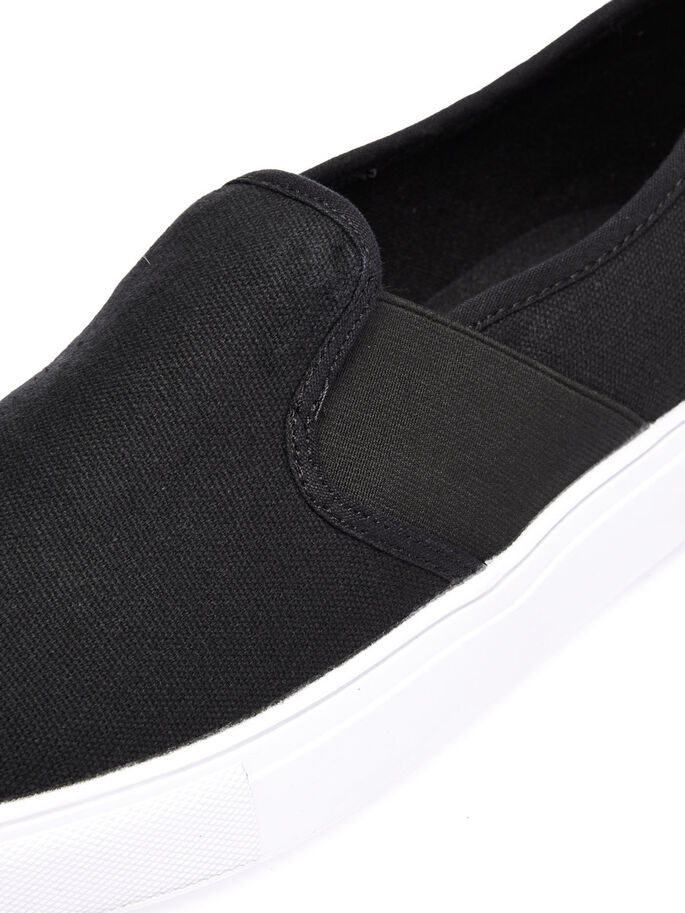 MEN'S LOAFER SLIP-ONS, Black, large