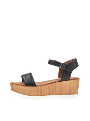 WOODEN WEDGE SANDALS