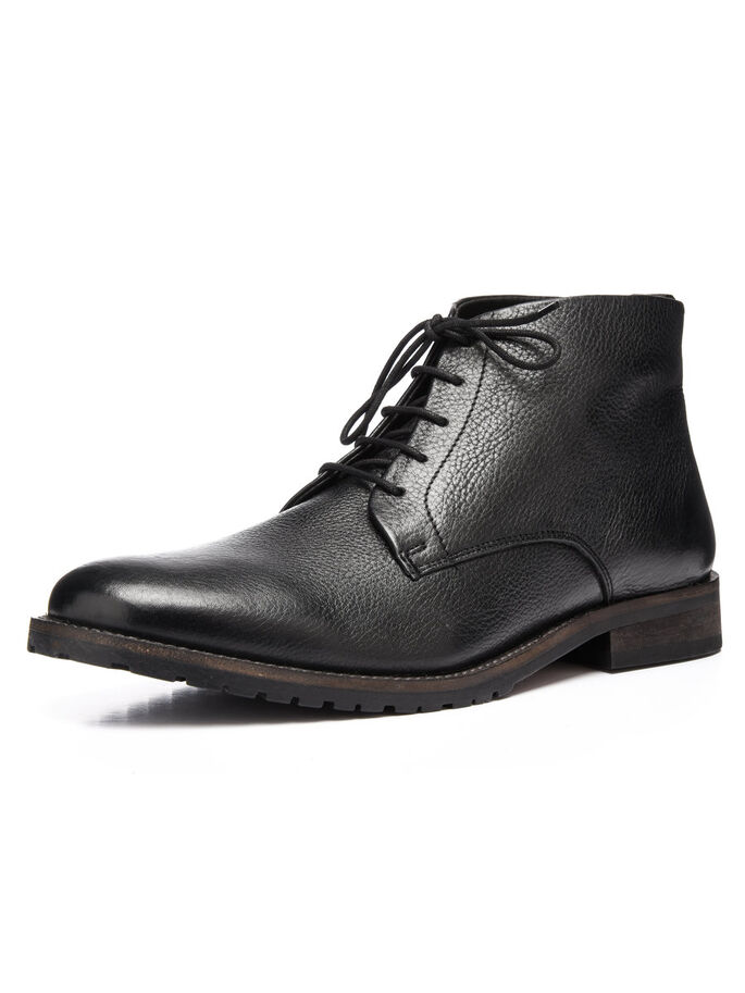 MEN'S CUT DRESS BOOTS, Black, large