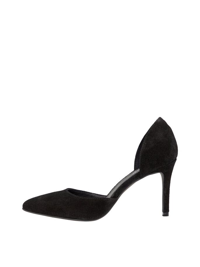 BIACAIT D'ORSAY SUEDE PUMPS, Black1, large