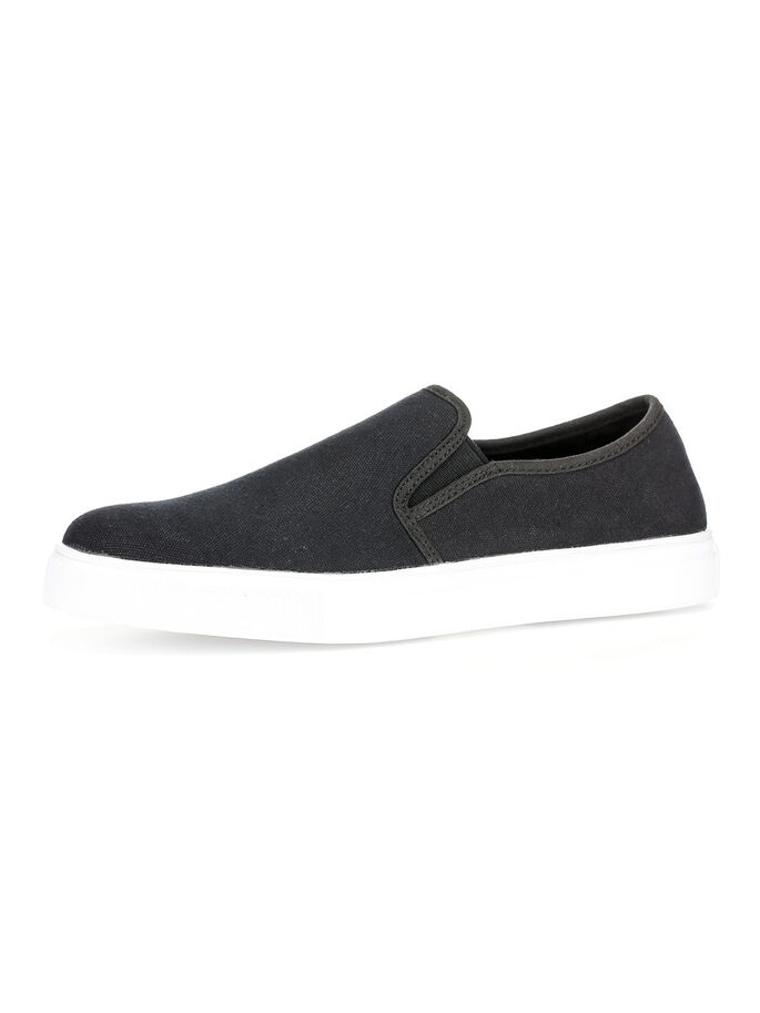 MEN'S TEXTILE SLIP-ONS, Black, large