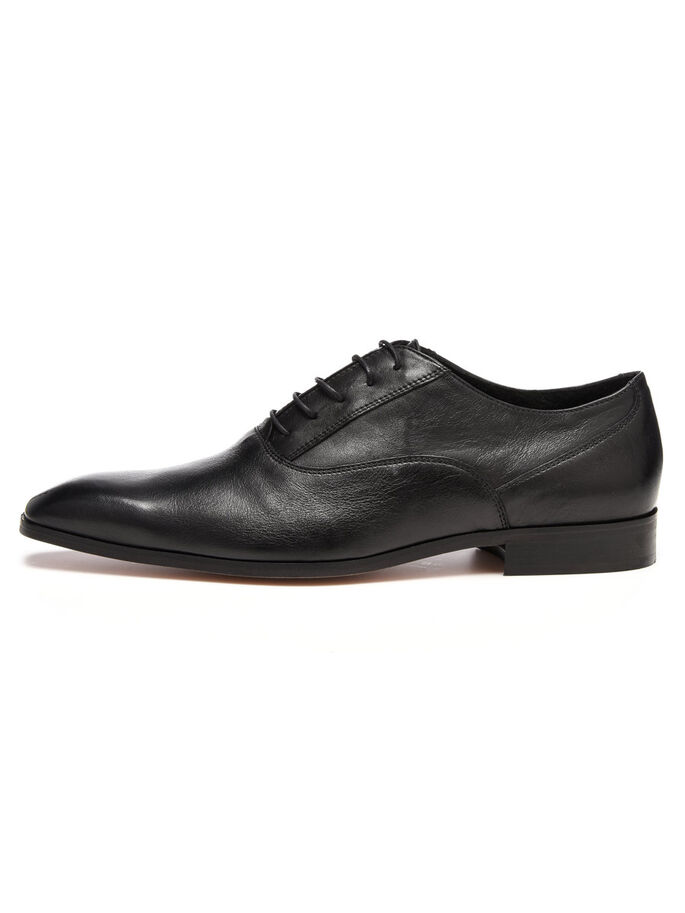 MEN'S OXFORD DRESS DERBY SHOES, Black, large