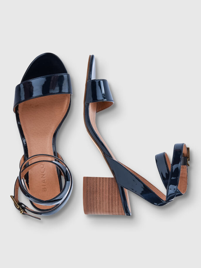 SIMPLE STRAP SANDALS, Navy Blue, large
