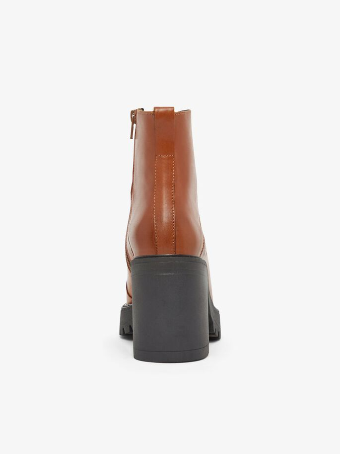 BIACURTIS LEATHER BOOTS, Cognac, large