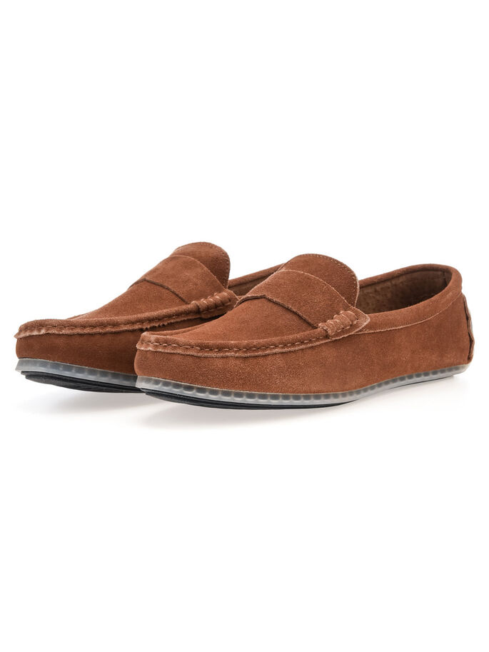 MEN'S SUEDE LOAFERS, Light Brown, large