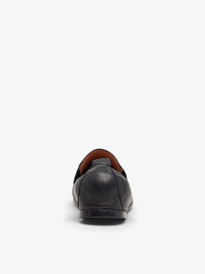 BIASTORY LEATHER LOAFERS, Black, large