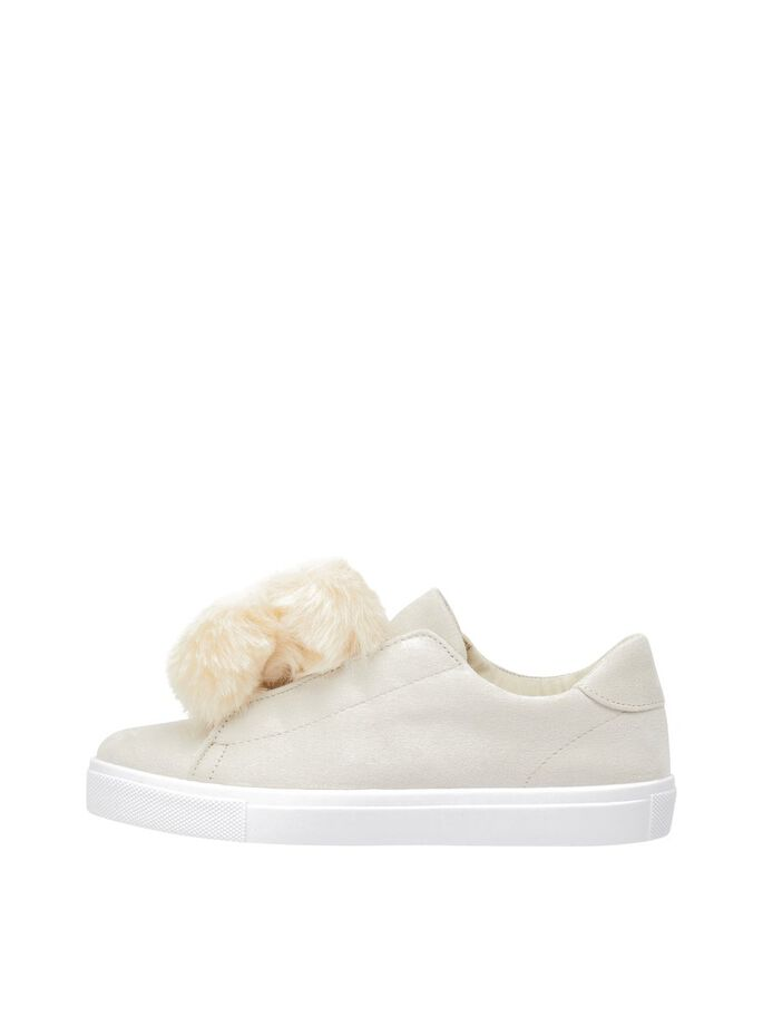 POM POM SNEAKERS, Cream, large