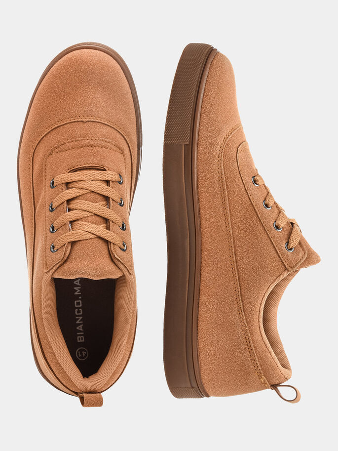 CHAUSSURES POUR HOMMES À LACETS CASUAL CHAUSSURES, Mustard, large