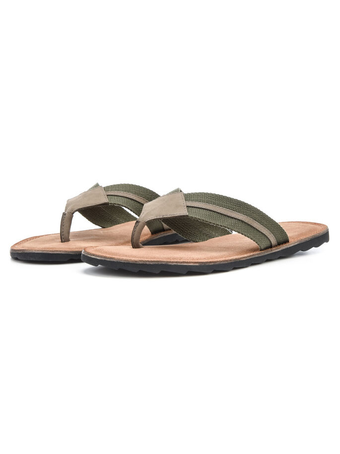 CANVAS V HEREN SANDALEN, Army Green, large