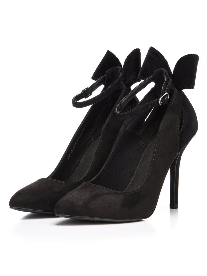 BOW PARTY PUMPS, Black, large