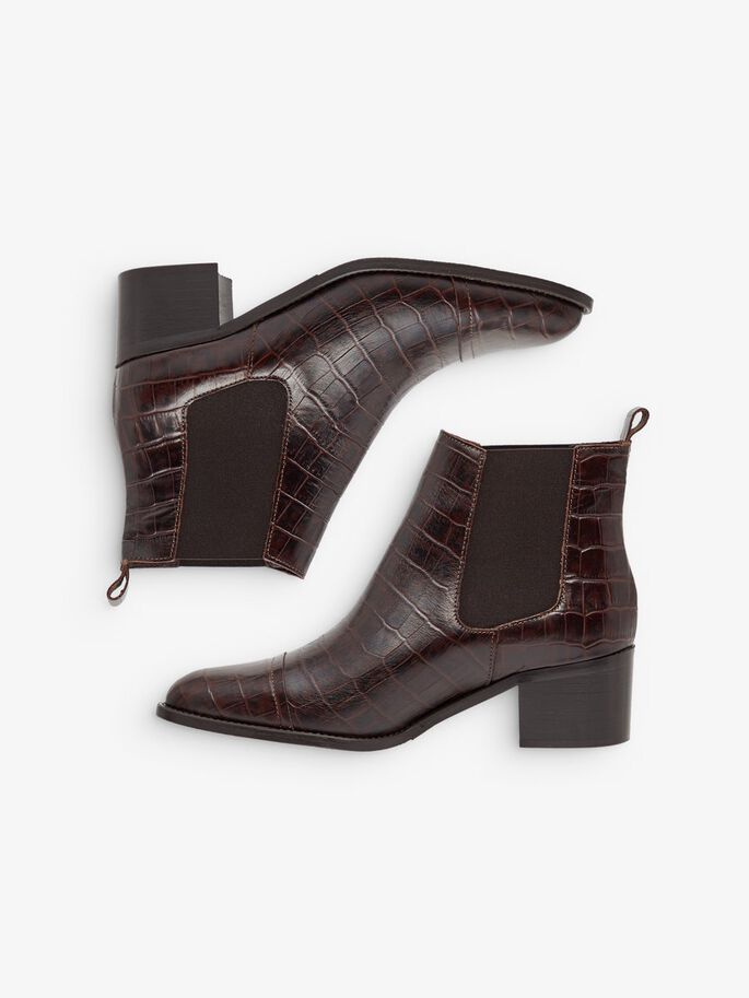 BIACAROL CROCO BOTTINES CHELSEA, DarkBrown9, large