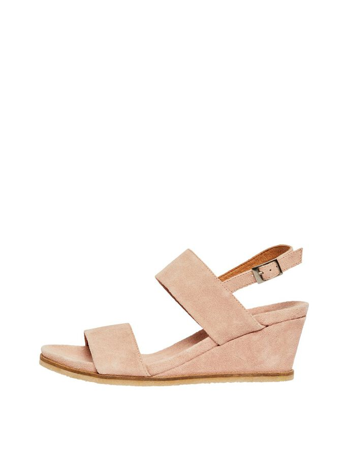 9b7a2e16 Leather wedge sandals | BIANCO