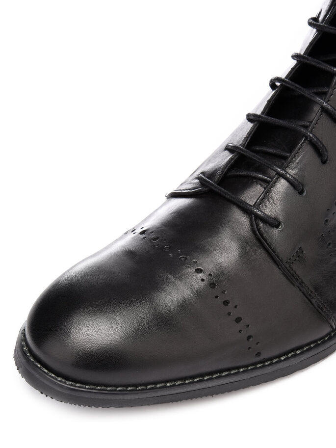 MEN'S BROGUE BOOTS, Black, large