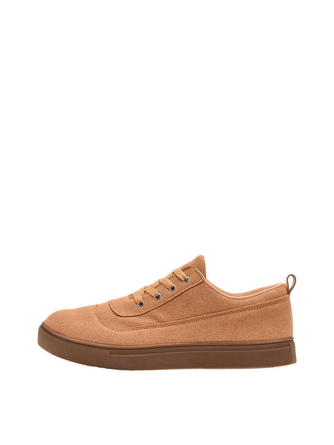 CASUAL HEREN VETER SCHOENEN, Mustard, large