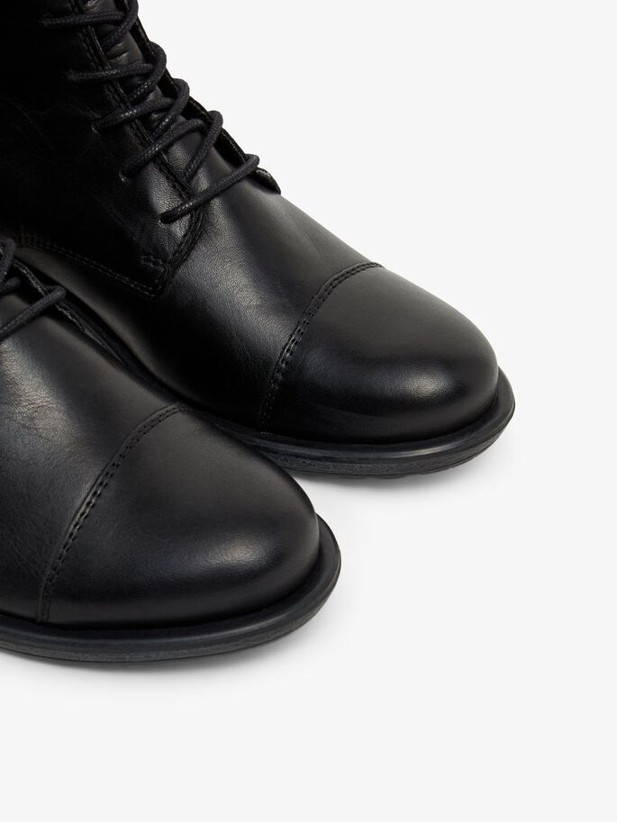BIADANELLE LEATHER BOOTS, Black, large