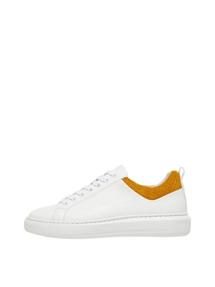 BIADAVA LEATHER SNEAKERS, Mustard1, large