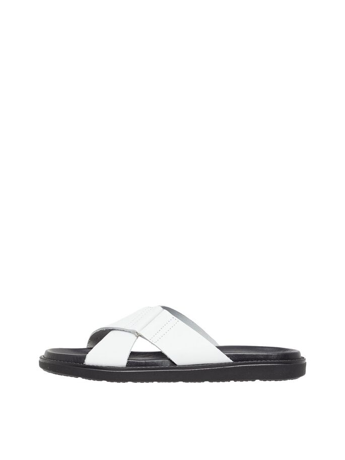 BIADEBBIE CROSS SANDALS, White, large
