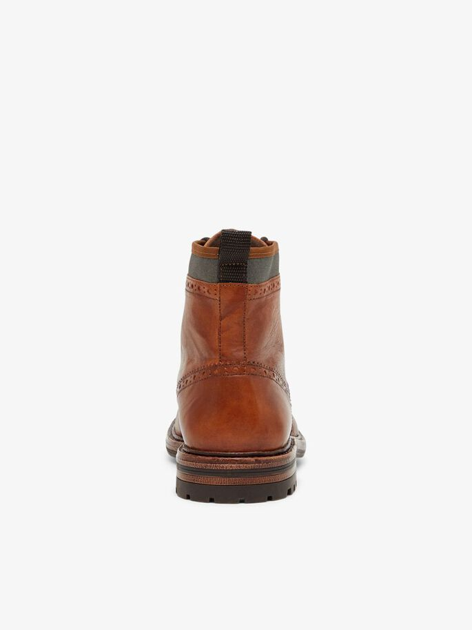 BIADELVIN LACE-UP BOOTS, Cognac, large