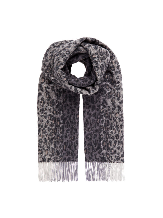 LEO WOOL SCARF, Grey, large